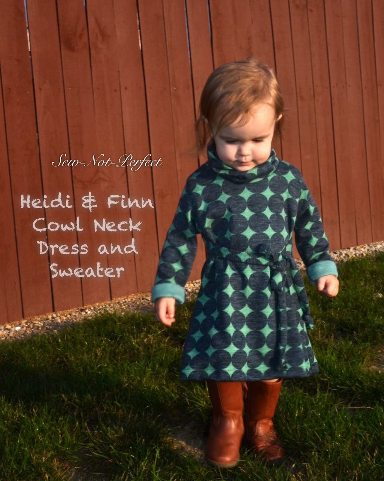 HeidiandFinn modern wears for kids: Cowl Neck Jumper Dress and ...