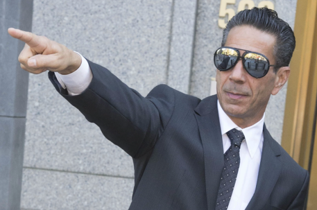 Philadelphia boss Joseph (Skinny Joey) Merlino outside court during appearance