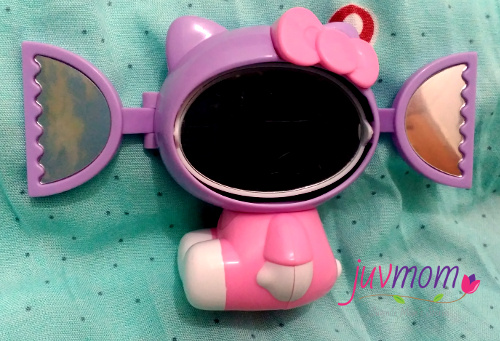 Hello Kitty dengan Cermin di Kepala.