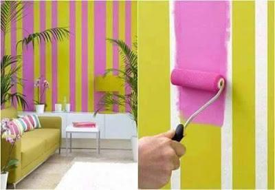 DIY : Idea Corak Dinding Buat Sendiri
