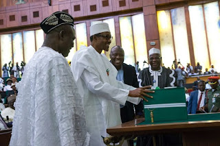 president Buhari and budget presentation to joint national assembly