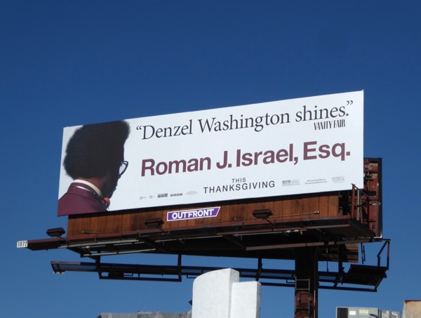 Roman J Israel Esq movie billboard
