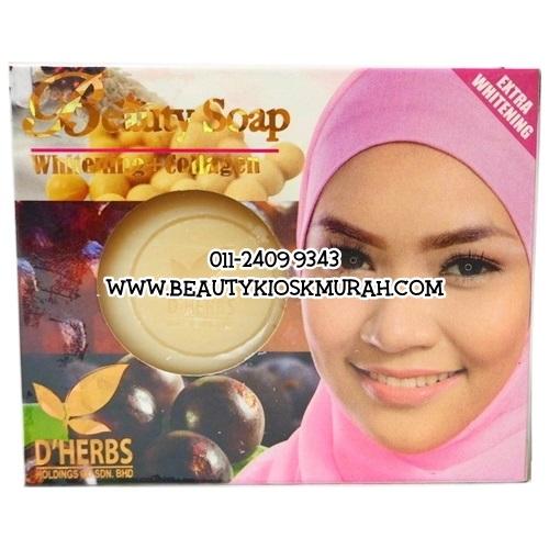 Beauty Soap Whitening + Collagen D'Herbs