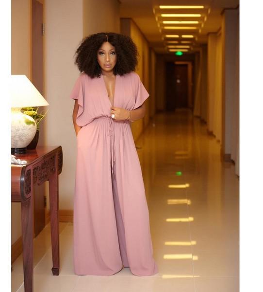 1408ac2e00a3 Rita Dominic Stuns in Blush Jumpsuit To  quot Alter Ego quot  Movie  Premiere - - Naija Info - ECHOnigeria