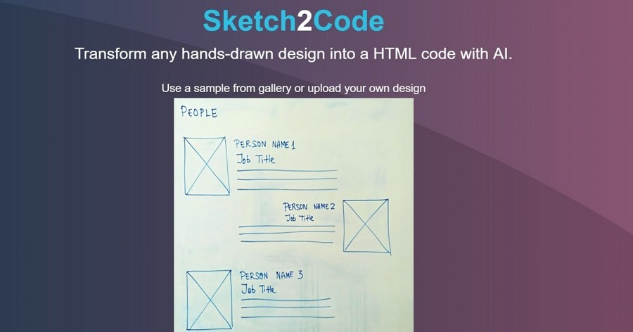 Microsoft has launched an AI web design tool Sketch2Code