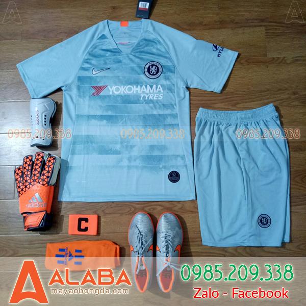 Áo Chelsea 2019 màu xanh ngọc đẹp lạ