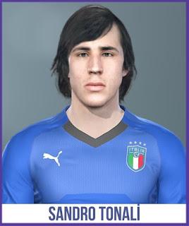 PES 2019 Faces Sandro Tonali by Halil Furkan