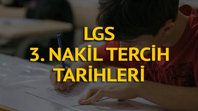 LGS'de 3. Nakil Başvuruları Başladı