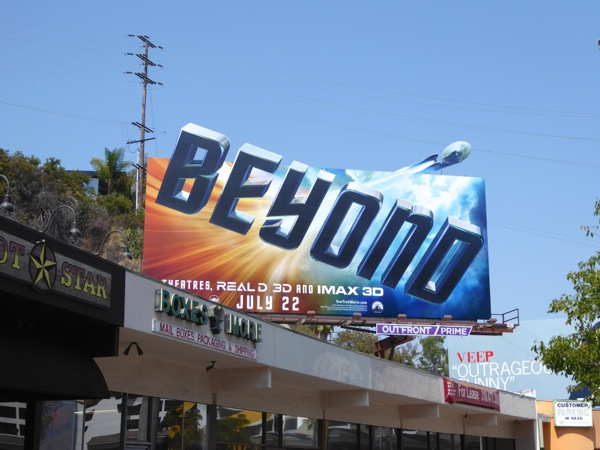 Star Trek Beyond movie teaser billboard