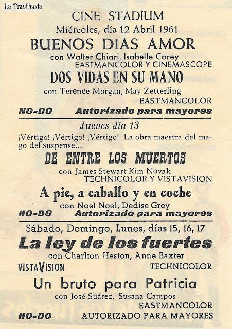 La Ley de los Fuertes - Programa de Cine - Charlton Heston - Anne Baxter