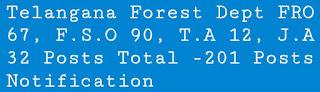 TS Forest Dept- 201 Posts Recruitment