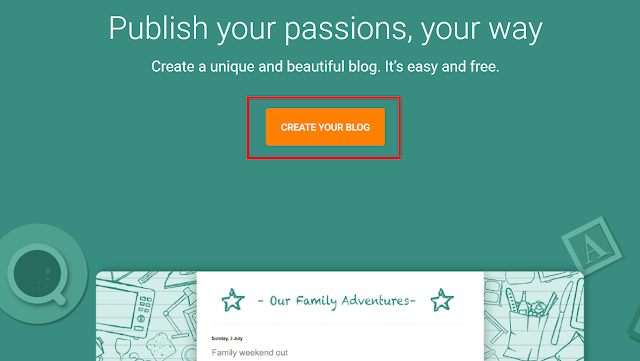 Buka Halaman Blogger untuk Mulai Membuat Blog