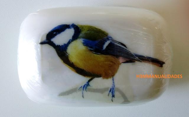 jabón-decorado-pájaro