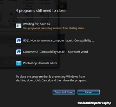 mematikan program berjalan di windows