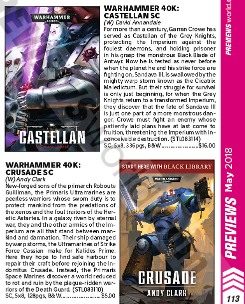 40k Crusade novel