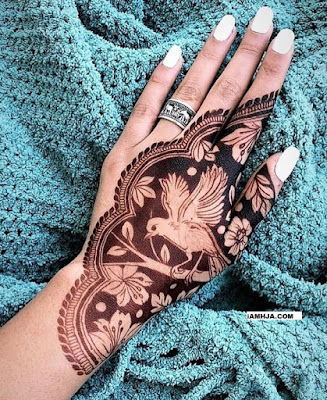 Pretty mehndi designs on hand with beautiful bird pictures designs high-quality download