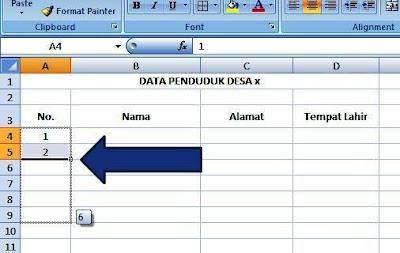 Cara Membuat Nomor Otomatis Di Excel
