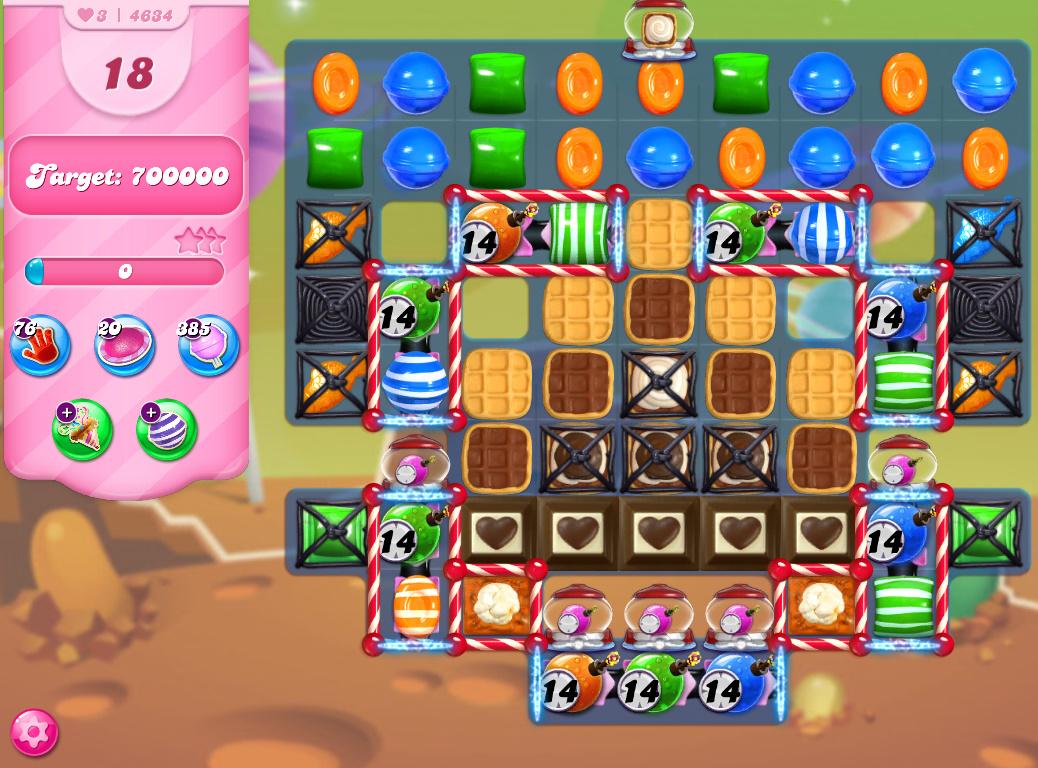 Candy Crush Saga level 4634
