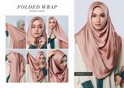 cara pakai shawl, tutorial pakai shawl,