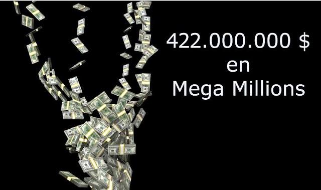 422.000.000 de dólares en la lotería MegaMillions