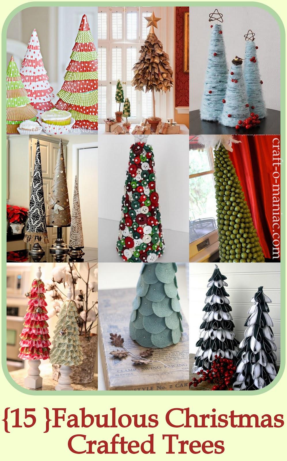 15 Fabulous Christmas Crafted Trees Craft O Maniac