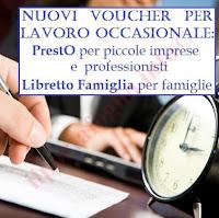 libretto famiglia e prestò: i nuovi voucher per prestazioni accessorie occasionali