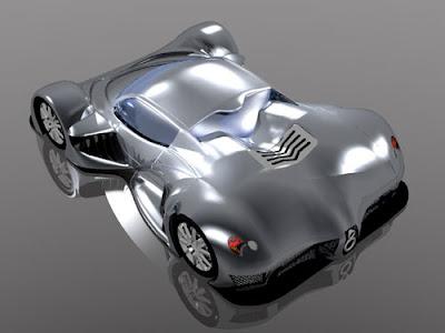 Diseño de prototipo de auto en animación 3D.