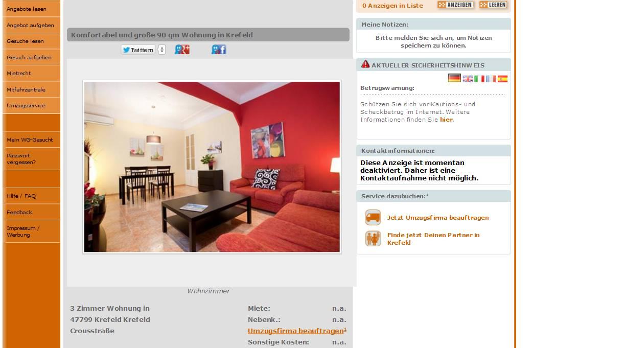 Zimmer Wohnung Krefeld