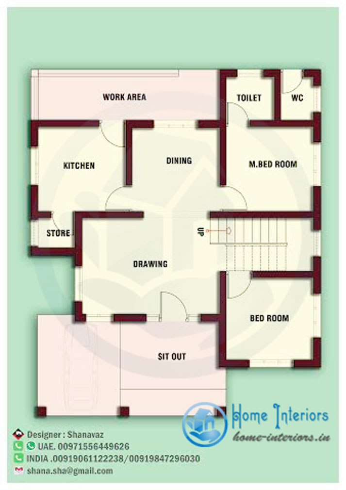 Economical and practical small home blueprints and floor plans for Work out floor area