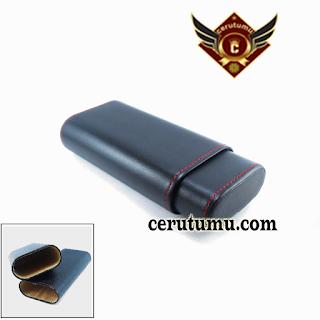 cigar case adalah untuk mnyimpan cerutu, wadah cerutu, tempat cerutu, casing cerutu,