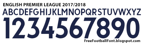 Download English Premier League 2017 2018 Font