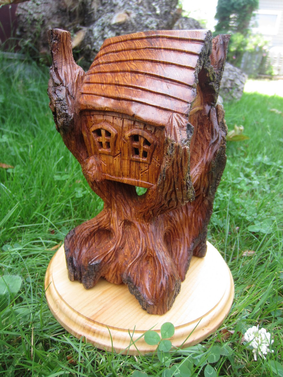 Ales The Woodcarver House In A Tree All Round Carving