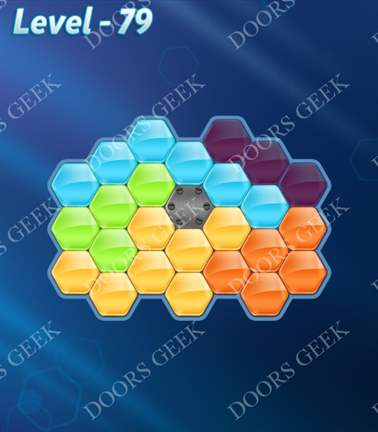 Block! Hexa Puzzle [5 Mania] Level 79 Solution, Cheats, Walkthrough for android, iphone, ipad, ipod