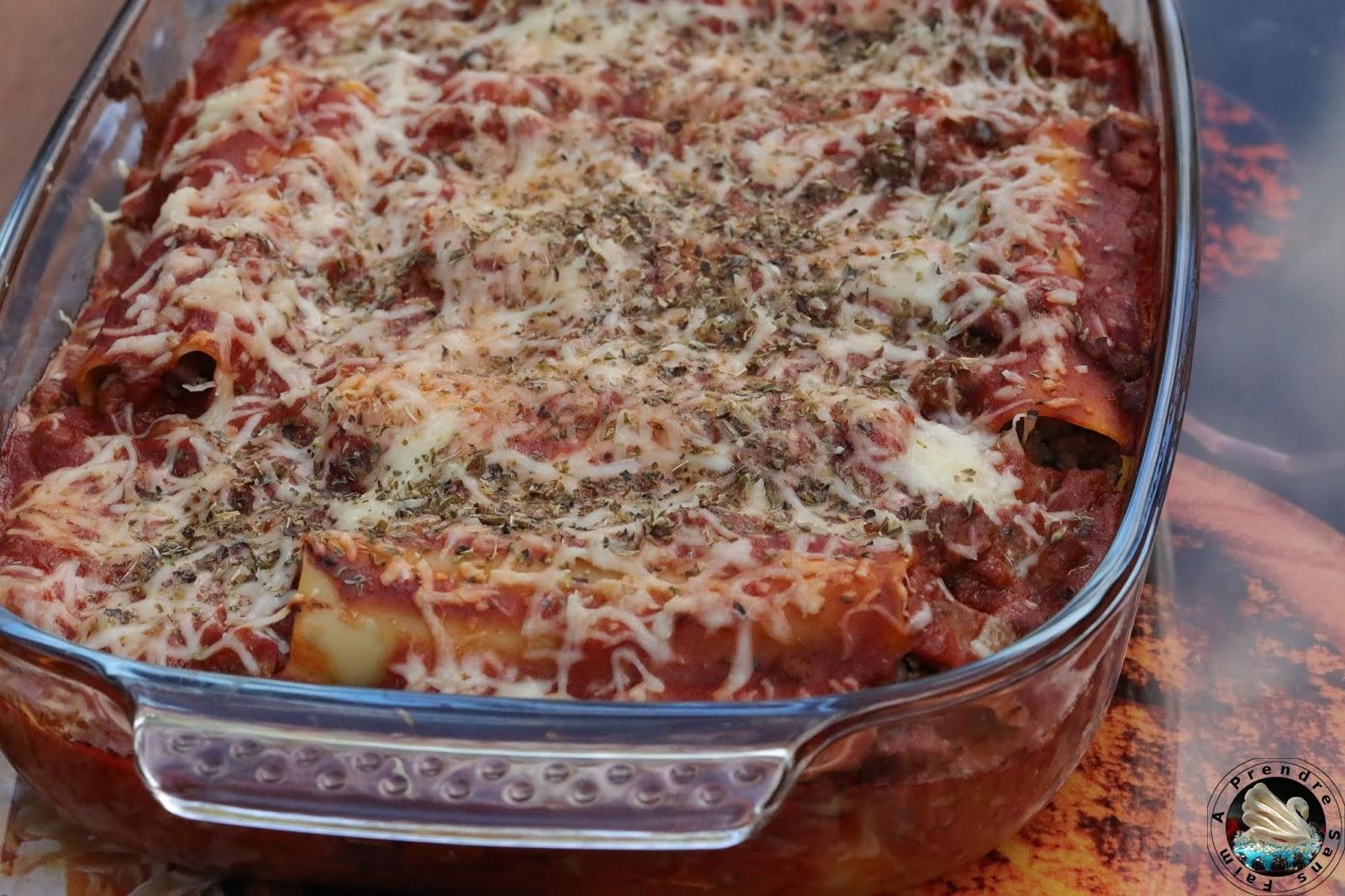 Cannelloni bœuf origan