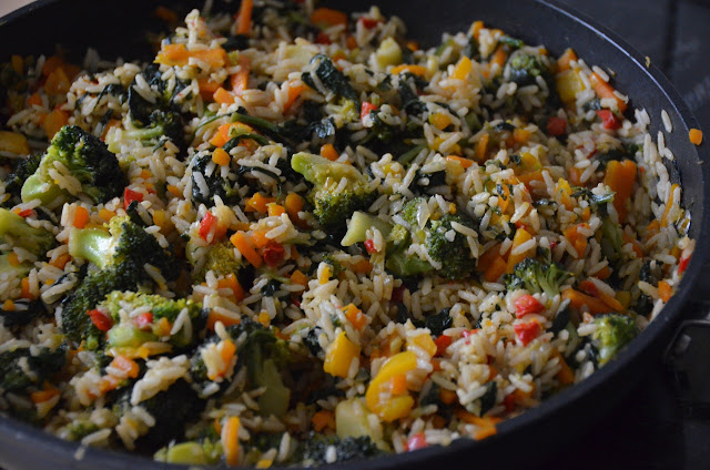 VEGETABLE RICE WITH AN ASIAN TWIST