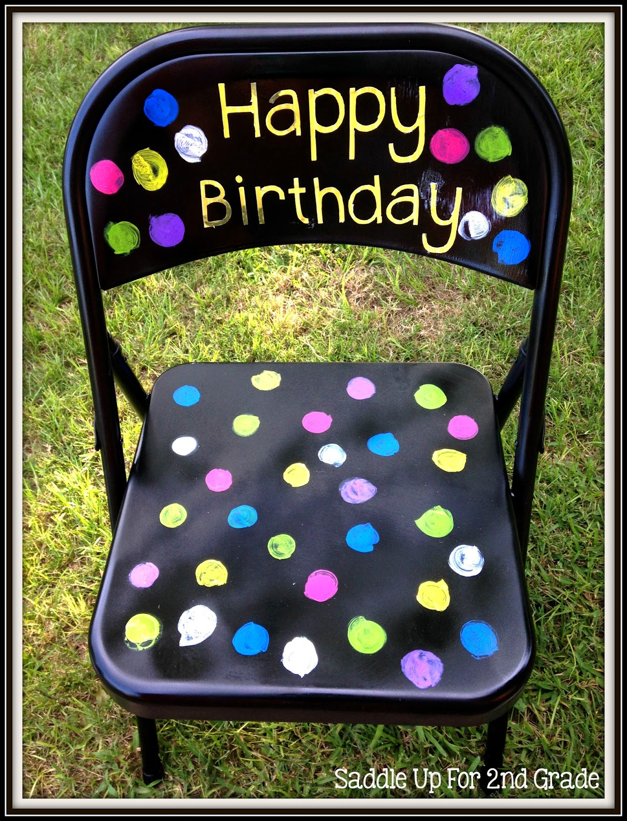 Birthday Chair by Saddle Up For 2nd Grade