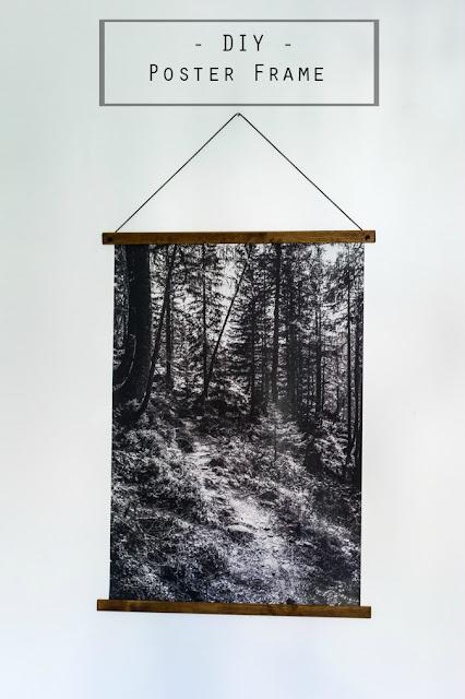 DIY Aufhängung für Poster selber machen