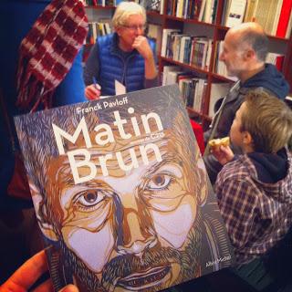 Franck Pavloff présentant Matin Brun à Marseille
