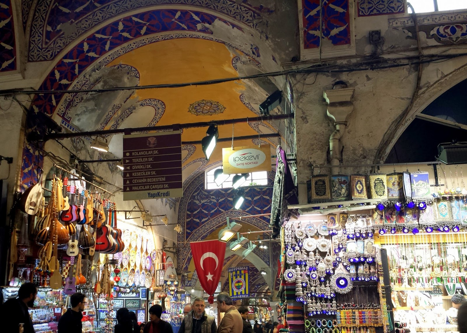 Visiting Istanbul for the first time, Grand Bazaar evil eye halls  |  Postcard from Istanbul on afeathery*nest  | http://afeatherynest.com