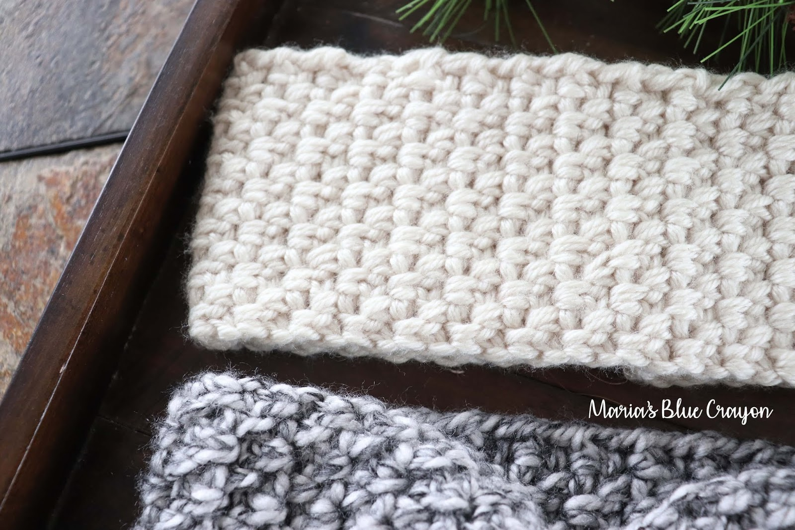 Chunky Crochet Ear Warmer Free Crochet Pattern Marias Blue Crayon