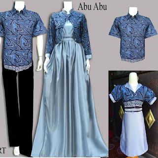 gamis batik kombinasi modern