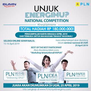 "National Competition : ""Unjuk Energimu?"" 2019"