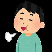 ゲップをする患者のイラスト(健康診断)
