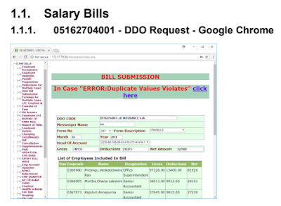 Salary Bills Preparation Steps in CFMS of AP Teachers / Employees How to Prepare Salary Bills in CFMS of AP Teachers and Employees