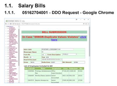 Salary Bills Preparation Steps in CFMS of AP Teachers / Employees How to Prepare Salary Bills in CFMS of AP Teachers and Employees