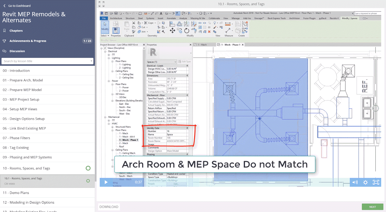 BIM Chapters: New ArchSmarter Course - Revit MEP Remodels