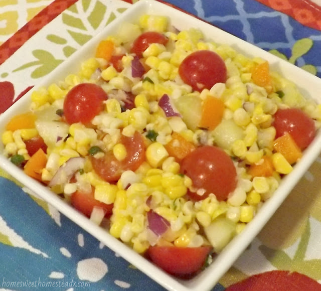 Summer Corn Salad: Home Sweet Homestead