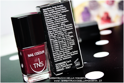 inci nails red bordeaux polish sweet temptation collection, polish, lipstick, rossetti , smalti unghie by tns cosmetics
