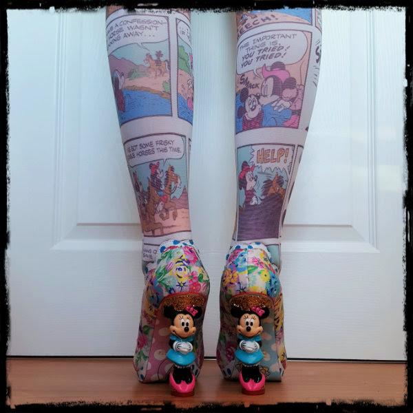 wearing irregular choice disney minnie mouse heels