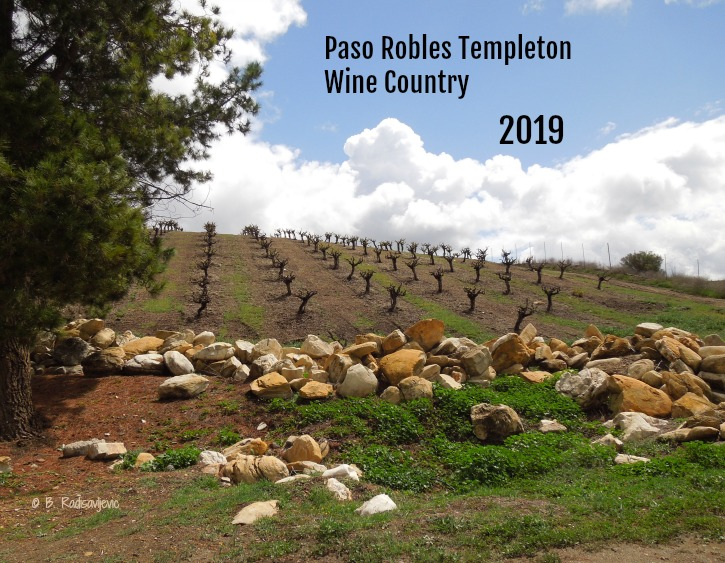 2019 Paso Robles and Templeton Wine Country Calendar - Cover
